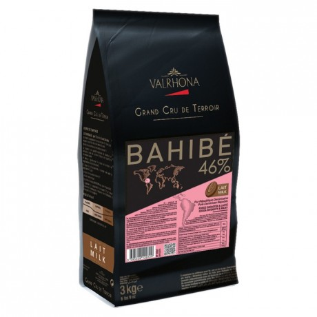Bahibe Lactée 46% chocolat au lait de couverture pur République Dominicaine fèves 3 kg