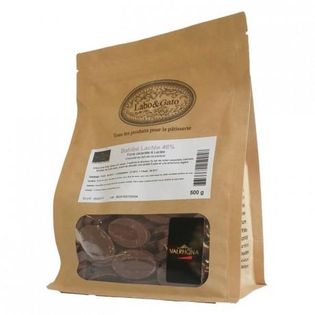 Bahibe Lactée 46% chocolat au lait de couverture pur République Dominicaine fèves 500 g
