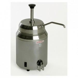 Bain-marie à pompe inox 2.8 L