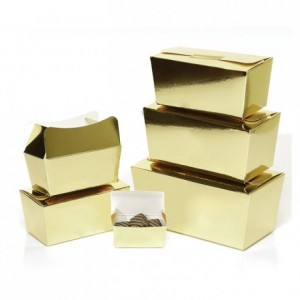 Ballotin collection or intérieur blanc 125 g (lot de 25)