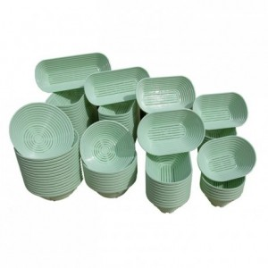 Polypropylene aeration bread basket 260 x 140 x 86 mm
