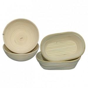 Banneton ovale en osier moule bie 240 x 150 mm