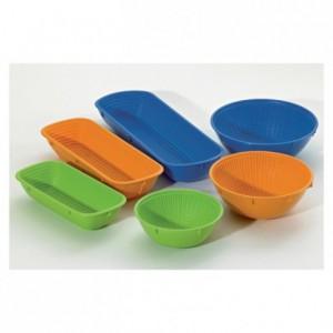 Banneton ovale plein orange 350 x 130 x 72 mm