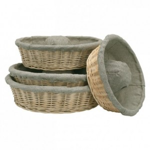 Fermenting crown dough basket with cloth Ø 260 mm