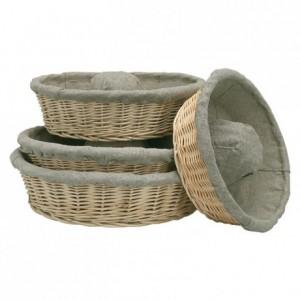 Fermenting crown-dough basket with cloth Ø 320 mm