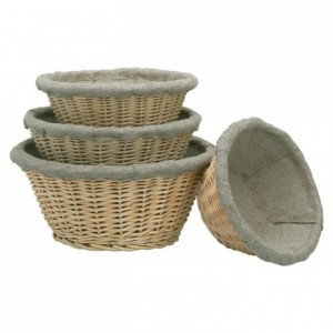 Fermenting round dough basket with cloth Ø 240 mm