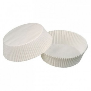Oval pastry case white 105 x 40 mm (100 pcs)
