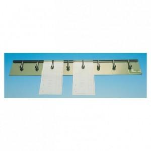 Barre porte-fiches 8 ressorts inox L 625 mm