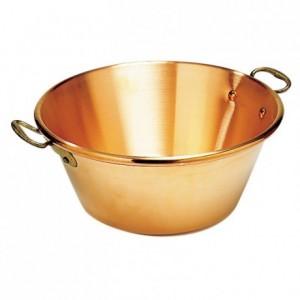 Reinforced jam pan copper Ø 420 mm