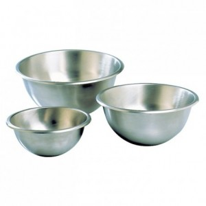 Hemispherical mixing bowl stainless steel Ø 200 mm