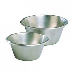 Flat-bottom pastry mixing bowl stainless steel Ø 400 mm