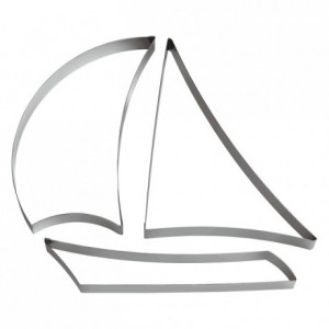 Boat stainless steel H30 L125 mm (3 parts)