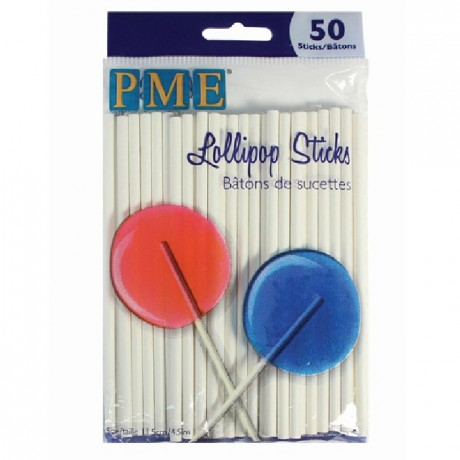 Bâtonnets sucette PME 11,5 cm 50 pièces