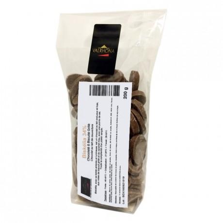 Biskélia 34% chocolat au lait de couverture Création Gourmande fèves 200 g
