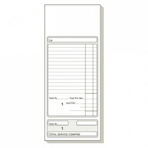 French catering memo pad Addition Dupli 50/2 (50 pcs)