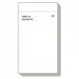 French catering memo pad Maitre d'hotel Dupli 50/2 (50 pcs)