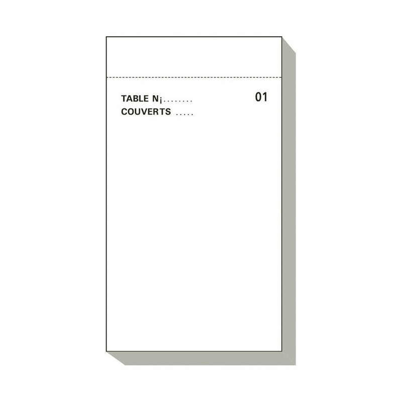 French Catering Memo Pad Maitre D'hotel Dupli 50