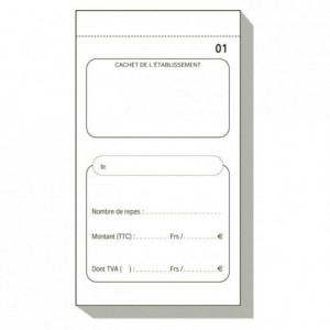 French catering memo pad Fiche repas Dupli 50/2 (50 pcs)