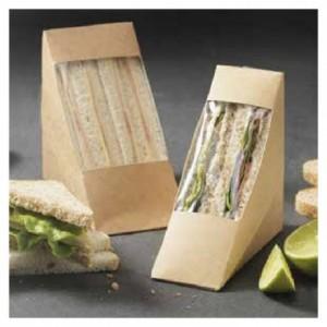 Boite 2 club sandwich carton kraft (lot de 500)