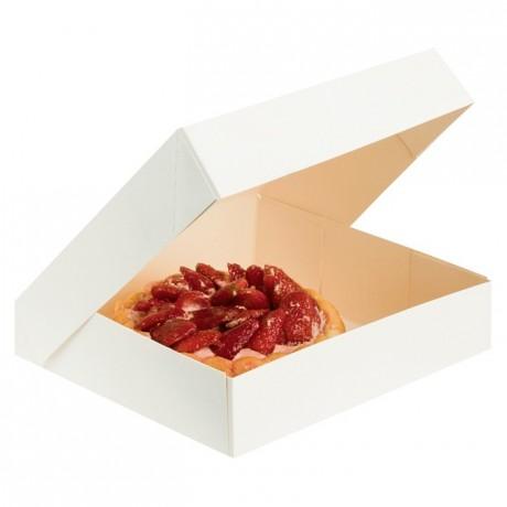 White dessert box 280 x 280 x 80 mm