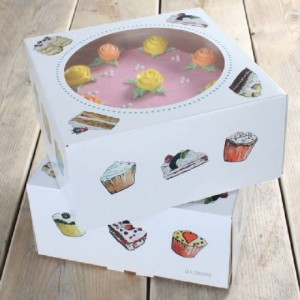 FunCakes Cake Box Cakes 26x26x12cm pk/2