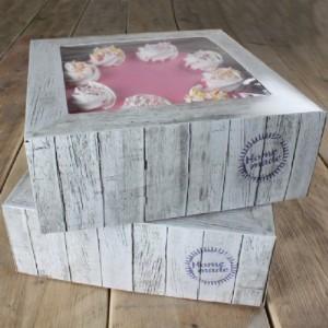 Boîte à gâteau FunCakes Pure 21x21x9 cm 2 pièces