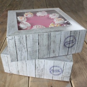 FunCakes Cake Box Pure 21x21x9cm pk/2