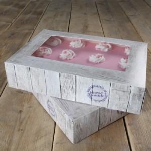 Boîte à gâteau FunCakes Pure 36x25x8 cm 2 pièces