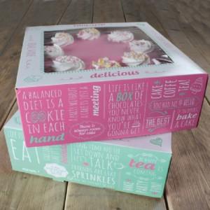Boîte à gâteau FunCakes Quotes 21x21x9 cm 2 pièces