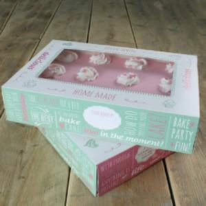 Boîte à gâteau FunCakes Quotes 36x25x8 cm 2 pièces