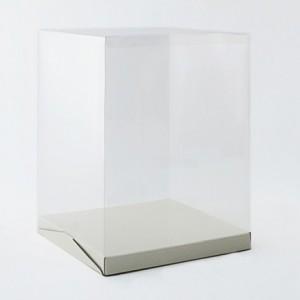 Boîte à gâteau haute couvercle plastique transparent H 40 cm