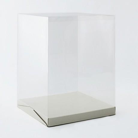 Modecor bo te g teau haute couvercle plastique transparent h 40 cm - Boite plastique cuisine ...