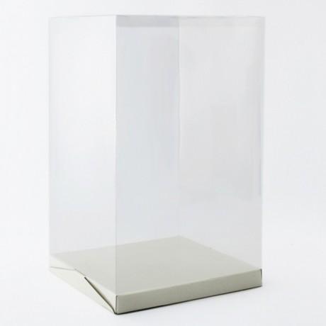 Boîte à gâteau haute couvercle plastique transparent H 50 cm