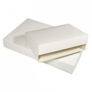 White catering box with micro corrugated reinforced base 620 x 420 mm (25 pcs)