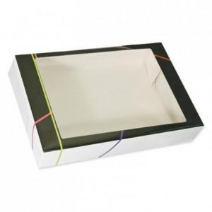 Boite carton traiteur prestige à fenêtre Prestige 620 x 420 x 130 mm (lot de 25)