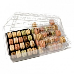Box + lid for 80 macarons (25 pcs)