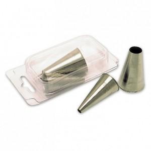 Boite de 12 douilles unies en inox de Ø 4 à 15 mm