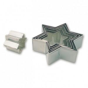 Boite de 6 découpoirs étoile de 45 à 115 mm en fer blanc