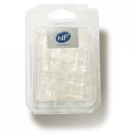 Boite de 6 douilles cannelées en polycarbonate