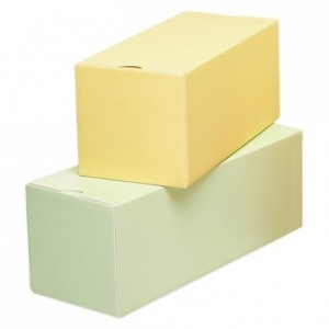 Boite isolante à bûche verte L 300 mm (lot de 25)