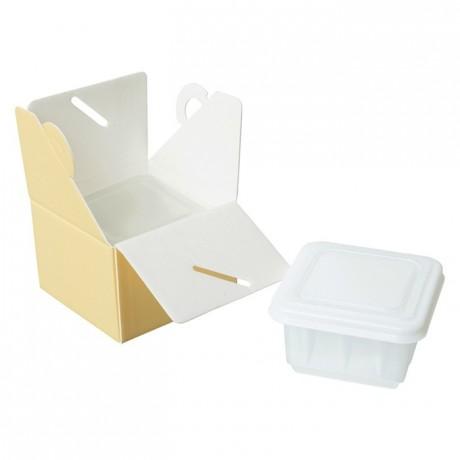 Insulator yellow box for ice cream 500 mL (25 pcs)