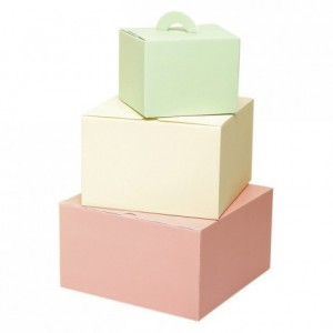 Insulator pink box for vacherin 230 x 230 x 130 mm (25 pcs)