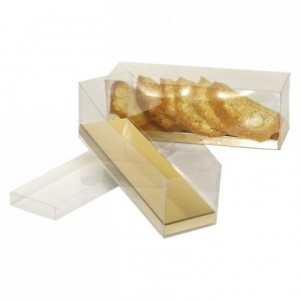 Boite réglette fond carton or 200 x 57 x 60 mm (lot de 20)