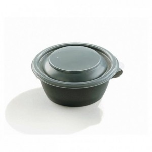 Round black bowl 375 cL (500 pcs)