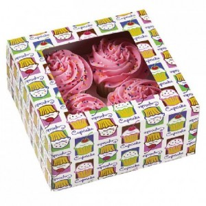 Boîtes 4 cupcakes + inserts Wilton Heaven 3 pièces