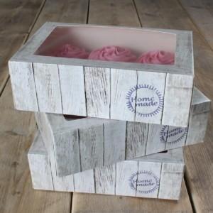 FunCakes Cupcake Box Pure 24x16x8cm + insert pk/3