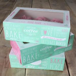 FunCakes Cupcake Box Quotes 24x16cm + insert pk/3