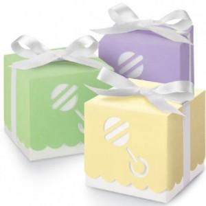 Wilton Assorted Color Rattle Boxes Pk 25