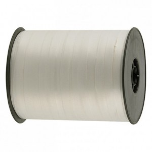 Gift wrap ribbon white 500 m x 7 mm