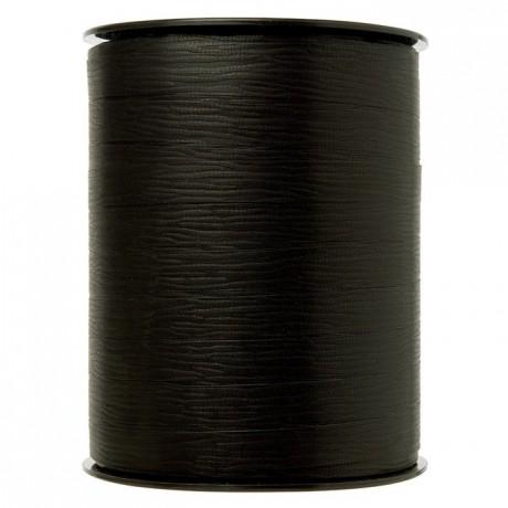 Gift wrap ribbon black 250 m x 10 mm